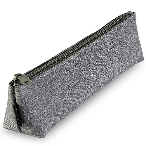 (Portable Stylish Pen Bag,Stationery Pouch,Multi-Colored Pencil Bag,Cosmetic Pouch Bag,Compact Zipper Bag(Dark Gray))