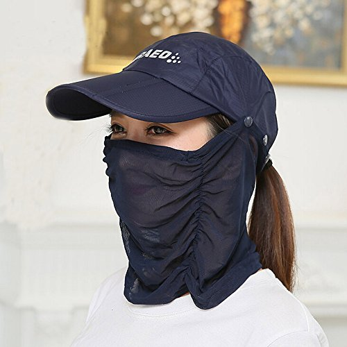 2451606cb81 Ezyoutdoor Anti-UV Sun Hat With Removable Sun Shield And Neck Face Mask  Protection With Folding ...