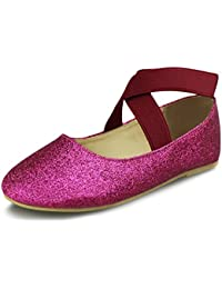 Girls Mary Jane Ballerina Flat Shoes(Toddler/Little Kid/Big Kid)