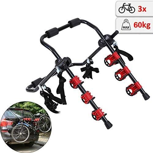 Honhill Portabicicletas Trasero Portón Plegable para 3 Bicis Soporte Bicicletas Universal Porta Bicicletas para Coches Carga 60kg: Amazon.es: Coche y moto