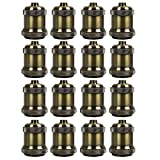 AAF Antique Bronze Metal Light Socket Shade Holder, E26 / E27, Pack Of 16