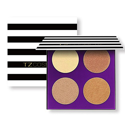 CCbeauty 4 Color Highlighter Makeup Pallete Shimmer Bronzers