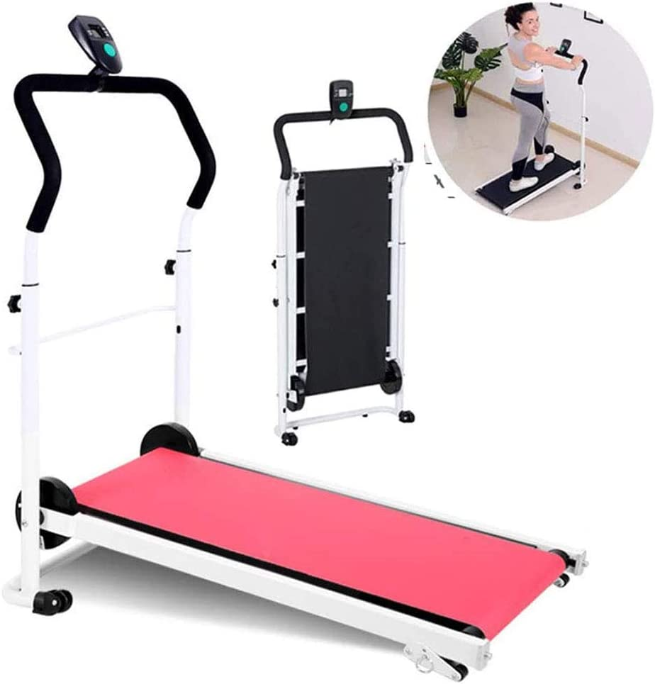 Treadmills for Home Folding, Mini Adjustable Indoor Weight Loss Stepper, Gym Workout Aerobics Fitness Equipment, with LCD Display