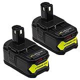 4.0Ah for Ryobi 18V Lithium Battery P108 ONE+ P104 P105 P102 P103 P107 P109 Cordless Power Tools Battery ENERMALL