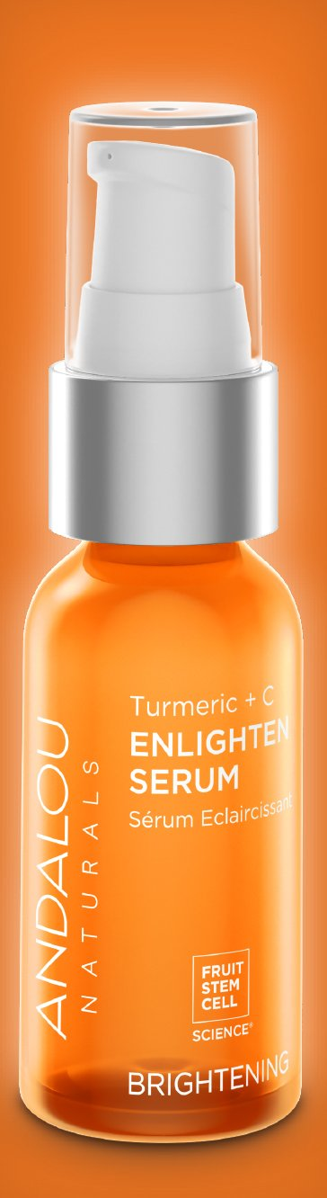 Andalou Naturals Turmeric + C Enlighten Serum, 1.1 oz, Helps Brighten, Firm, Even Skin Tone With Vitamin C for Healthy Looking Glow by Andalou Naturals (Image #5)