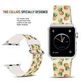 For Apple Watch Band 42mm Nostalgic pineapple pattern, DOO UC Stainless Steel Watch Band Replacement Strap for Both Apple Watch Series 1 and Series 2 and Series 3 - 42mm
