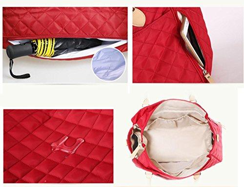 HJXJXJX Mochila de pañales portátil de alta calidad a gran capacidad de gran tamaño pañal de reemplazo de pañales , blue red