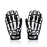 FOME Cycling Bike Bicycle Anti-Slip Breathable Hand Skeleton Pattern Full-Finger Gloves (L Size) + FOME GIFT