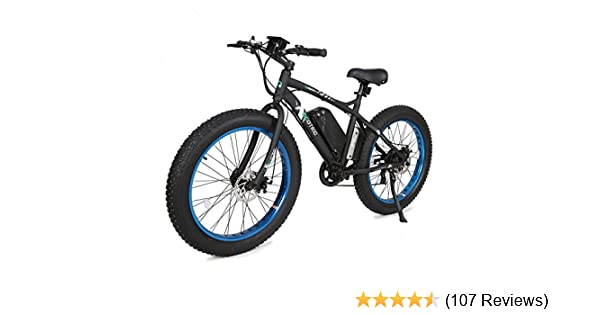 Electric Bicycle Reviews >> Ecotric Fat Tire Electric Bike Beach Snow Bicycle 26 4 0 Inch Fat Tire Ebike 500w 36v 12ah Electric Mountain Bicycle With Shimano 7 Speeds Lithium