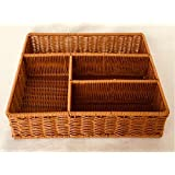Bread Basket, FenglingTech Wicker Fruit Basket