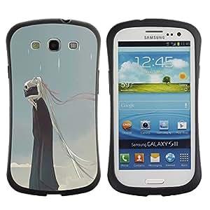 Suave TPU GEL Carcasa Funda Silicona Blando Estuche Caso de protección (para) Samsung Galaxy S3 I9300 / CECELL Phone case / / Rain Death Monster Blue Clouds Skull /