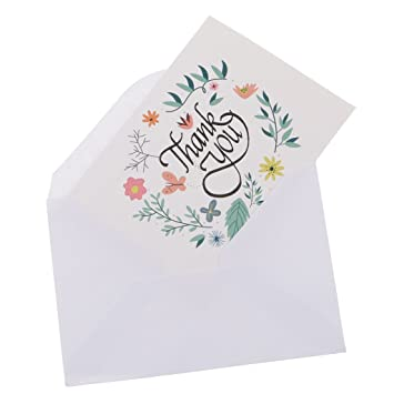 50pcs Thank You Carte De Remerciement Invitation Enveloppes
