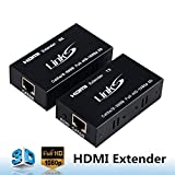 avedio links HDMI Extender(Transmitter&Receiver) Over signle cat5e/6/7 Support 1080p 3D, HDMI 1.4a, HDCP, EDID, Up to 196ft(60m)