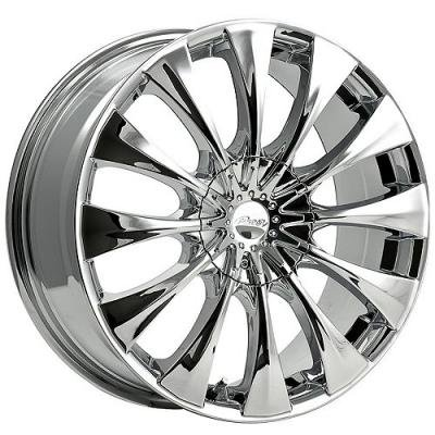 Pacer Silhouette 20x8.5 Chrome Wheel / Rim 5x115 & 5x120 with a 40mm Offset and a 74.10 Hub Bore. Partnumber 776C-2855540 (Cadillac Cts 2006 Rims compare prices)