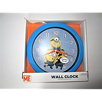 DESPICABLE ME MINIONS LARGE WALL CLOCK BLUE MINION MADE