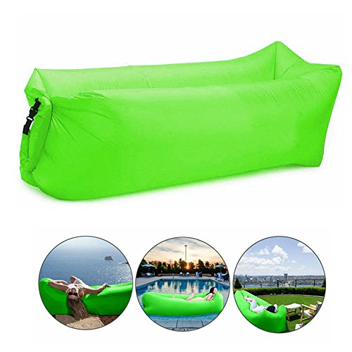 Bry Inflatable Lounger Air Chair Sofa Bed Sleeping Bag Couch For Beach Camping Lake Garden (Green) from Beiruoyu