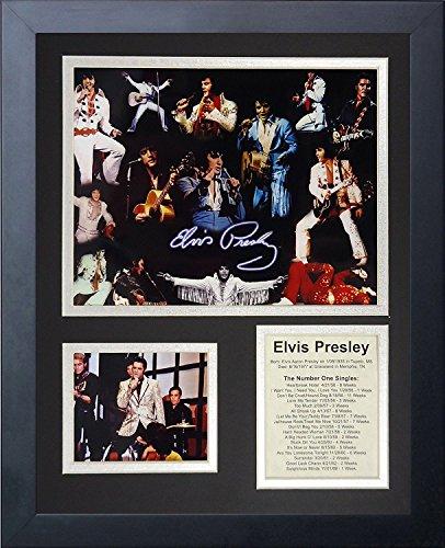 - Legends Never Die Elvis Presley Framed Photo Collage, 11x14-Inch