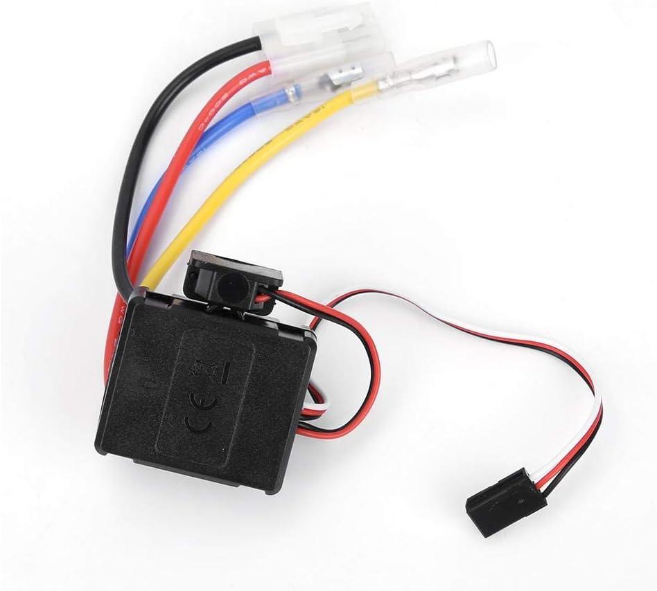 Drfeify RC Coche Motor ESC, 60A RC Control Remoto ESC Electronic Speed Controller Brushed para el Accesorio de la Pieza del Coche de RC