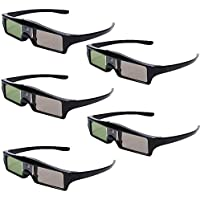 Seesii RF Bluetooth Active Shutter 3D Glasses For Epson 3020 3020E 5020 Projecotor KX60 With Key Chain (Pack of 5)