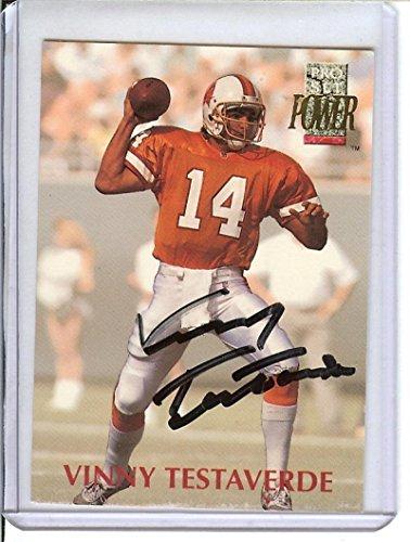 Testaverde Vinny Football (Football NFL 1992 Power #14 Vinny Testaverde Buccaneers)
