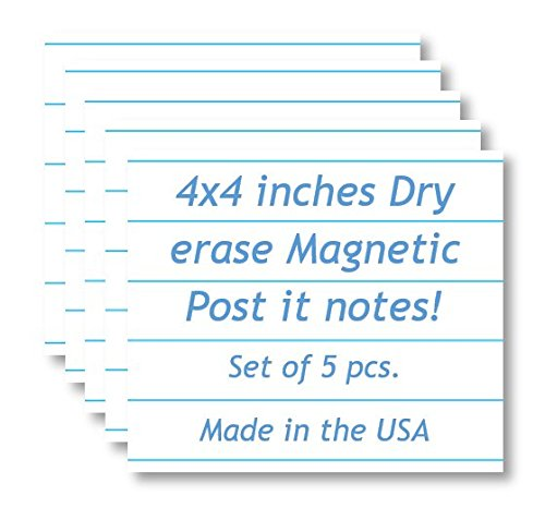 Magnetic Dry Erase Memo Sheets - Notepad/Writing Pad Design - 4