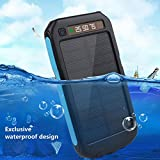 Cewaal Portable Waterproof Solar Power Bank Case DIY Mobile Charger Kits Outdoor Travel (black orange
