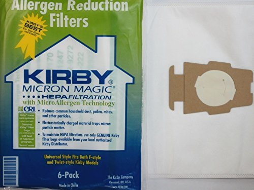 Kirby Part#204808 - Genuine Kirby Style F HEPA Filtration Vacuum Bags for ALL Sentria Models (6 Bags & 1 Belts) (Kirby F Vacuum Bags compare prices)