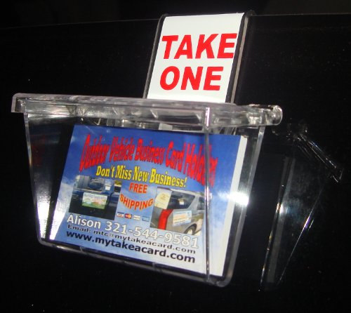 Marketing Holders Outdoor Business Card Holder Clear Lid
