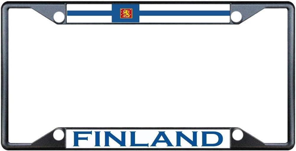 FINLAND Black frame flag License Plate Frame