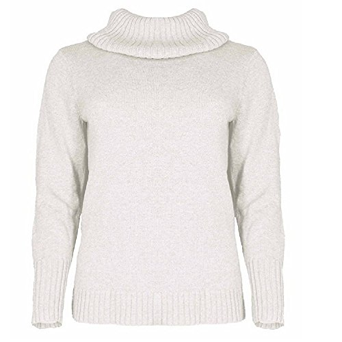 Nautica's Women's Soft Knitted Turtle Neck Long Sleeve Semi Fitted Sweater (Large, White)