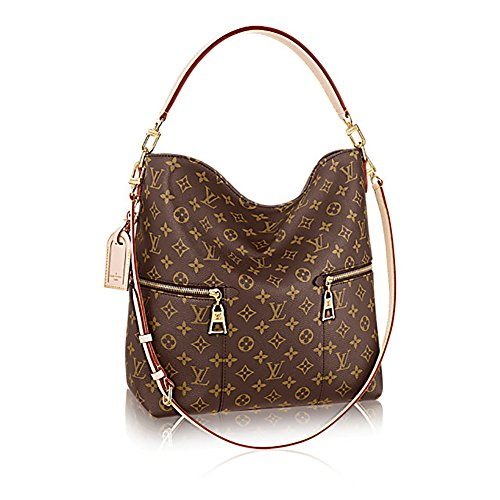 (Authentic Louis Vuitton Mélie Monogram Canvas Leather Shoulder Handbag Article:M41544 Made in France)