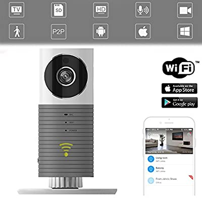 with Realtime App for Android iPhone ipad Blue Up to 32G FancyTech 720P HD Mini Security Wireless Baby Monitor Surveillance camera with P2P Support TF Card