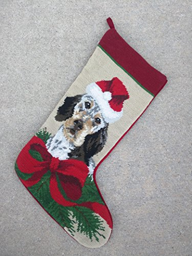 Best Hunter Hound Hunting Dog Breed Lover Fan Owner Needlepoint & Velvet Large Christmas Stocking Unique Clever Novelty Fun Silly Stuffer Gift Idea (Rescue One Cds Harness compare prices)