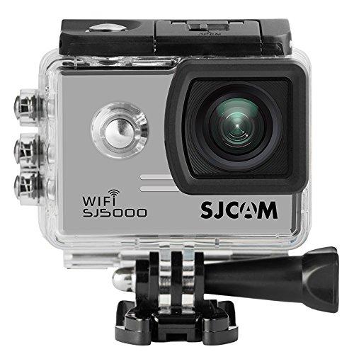 16GB TFカード+ SJCAM SJ5000 WIFIスポーツアクションカメラNovatek 96655 14インチ2.0インチLCD 1080P 170度広角スポーツアクションカメラ防水カムDVのビデオカメラ自転車オートバイダイビング水泳+ 1個のバッテリー充電器+ 1個余分なバッテリー(Sliver) B07CVQ7S9C