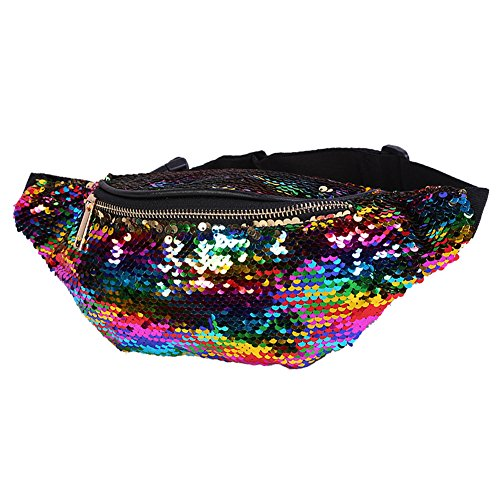 (Small Fanny Pack for Kids - Wholesale Festival Sequin Waist Pack for Women with Adjustable Strap)