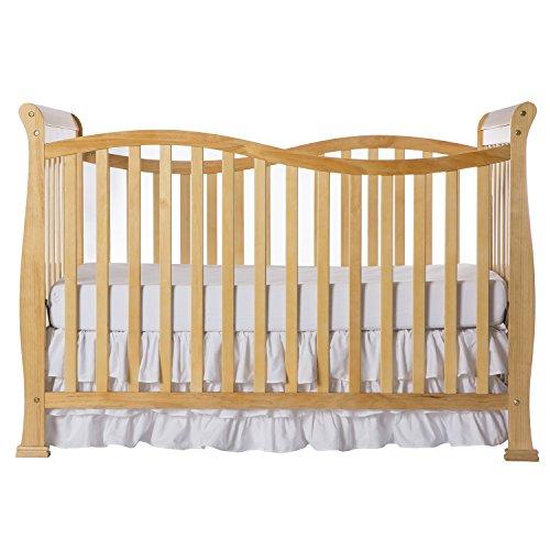 Crib Convertible Wood (Dream On Me Violet 7 in 1 Convertible Life Style Crib, Natural)