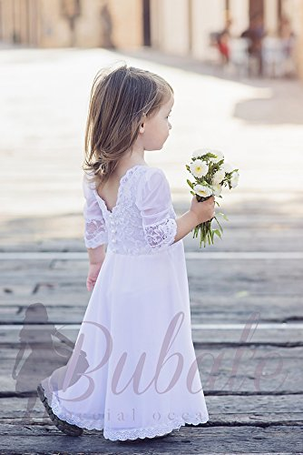 2f609c0fa40 Amazon.com  Boho Flower Girl Dress