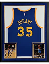 0e68a13a294 Kevin Durant Golden State Warriors SM Deluxe Framed Autographed Blue Adidas  Replica Jersey - Panini Authentic