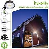 Hykolity LED Barn Light 8800lm 80W Dusk to Dawn