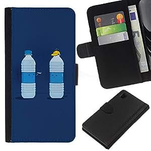 JackGot ( Divertente Acqua Duel ) Sony Xperia Z1 L39 la tarjeta de Crédito Slots PU Funda de cuero Monedero caso cubierta de piel