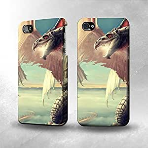Apple iPhone 4 / 4S Case - The Best 3D Full Wrap iPhone Case - Dragon Fantasy