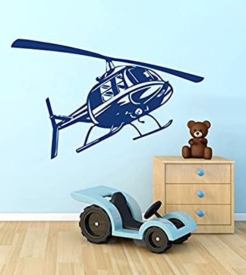 Wall Vinyl Sticker Decal Helicopter Nursery Room Nice Picture Decor Mural Hall Wall Ki606