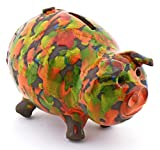 ART ESCUDELLERS Ceramic PIGGY BANK handmade and handpainted with XISPEJAT ORANGE decoration. 5,91'' x 4,33'' x 4.72''