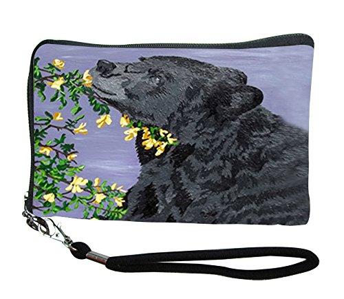 Small Zip Around Wristlet - Wearable Art - Support Wildlife Conservation, Read How (Bear - Moment of Bliss)