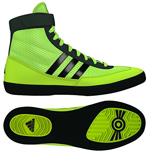 adidas Combat Speed 4 Wrestling Shoes - Soilar Yellow/Black - 8.5