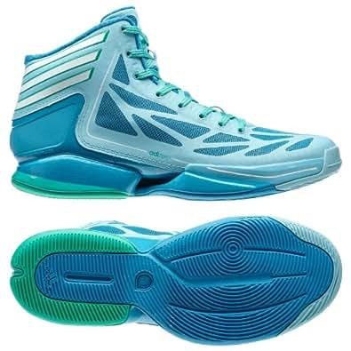 Adidas Adizero Crazy Light 2 Crystal/White/Turquoise Men's Basketball Shoes (Size 9.5)