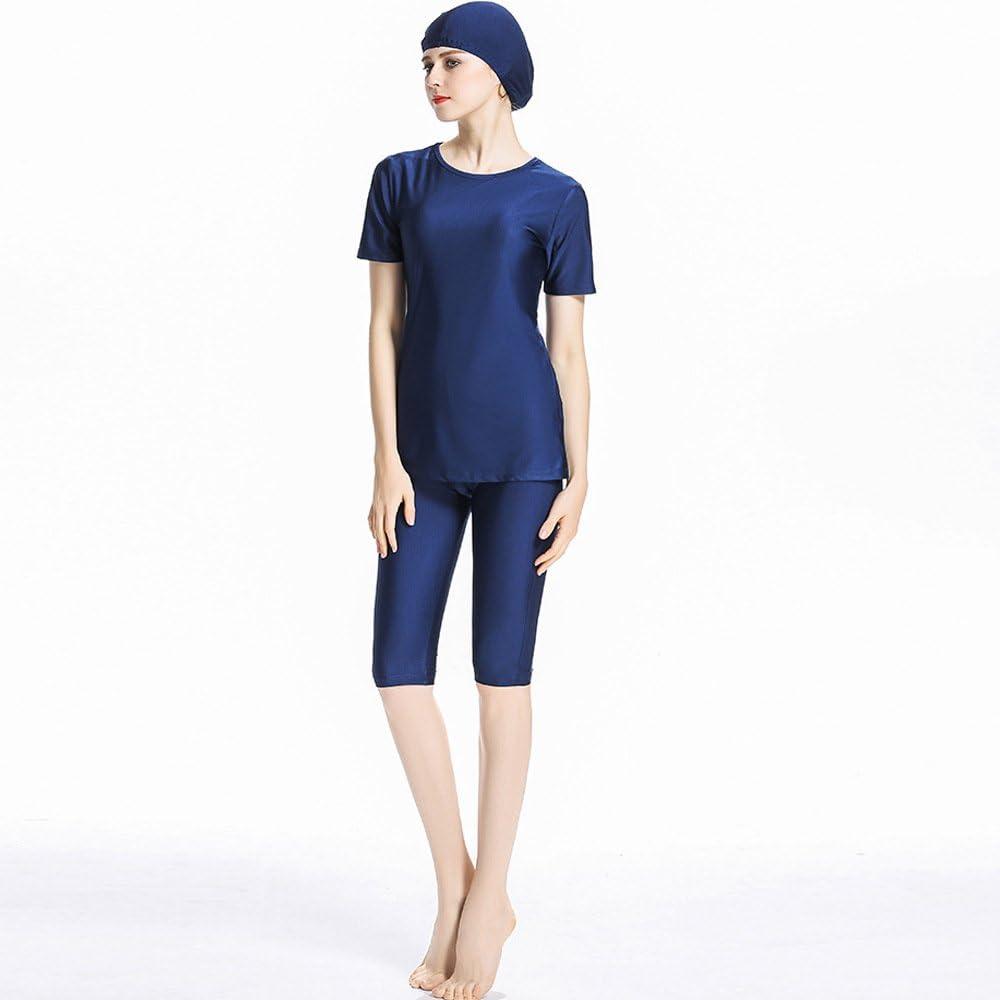 Mr Lin123 Donne Manica Corta Musulmano Beachwear Burkini Islamico Modest Swimwear Lady Costume da Bagno
