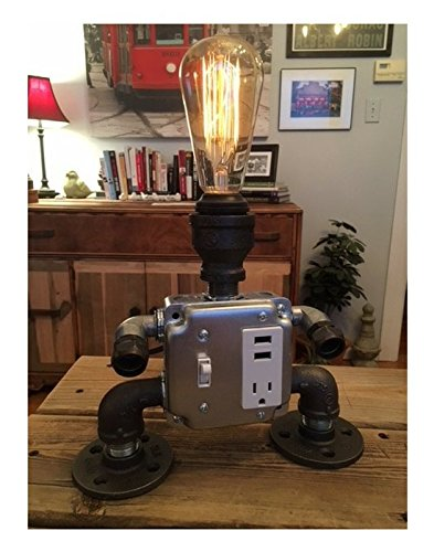 DESK BOT Edison bulb industrial desk table vintage steam punk lamp