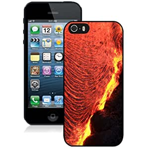 Beautiful Custom Designed iPhone 5S Phone Case For Volcanic Lava Phone Case Cover