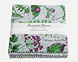 Connecting Threads Collection Precut Quilting Fabric Bundle (Botanical Blooms - 5'' Charm Squares)